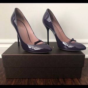 Gucci Patent Leather Vernice Crystal, Purple